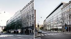 Före och efter respektfull takpåbyggnad